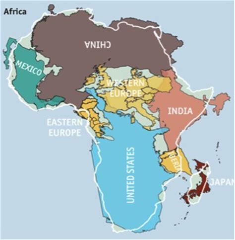 Carte Du Monde Vrai Ou Faux by La Vraie Taille Du Continent Africain Une Afrique Comme