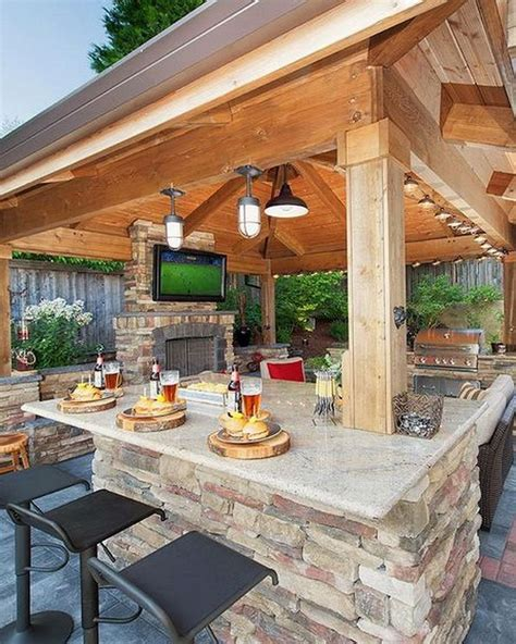 awesome yard  outdoor kitchen design ideas  hoommycom