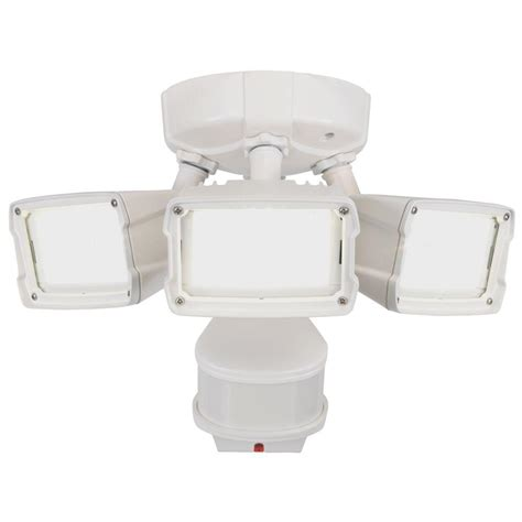 defiant led security light defiant 270 degree white doppler motion activated outdoor