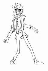 Thriller Zombie Step Jackson Michael Illustrator Final Illustrative sketch template