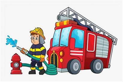 Fire Cartoon Firefighter Fighter Clipart Kindpng