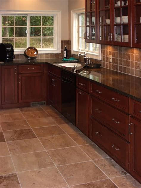 tiled kitchen floor ideas cherry kitchen cabinets kitchens with grey floors kitchen