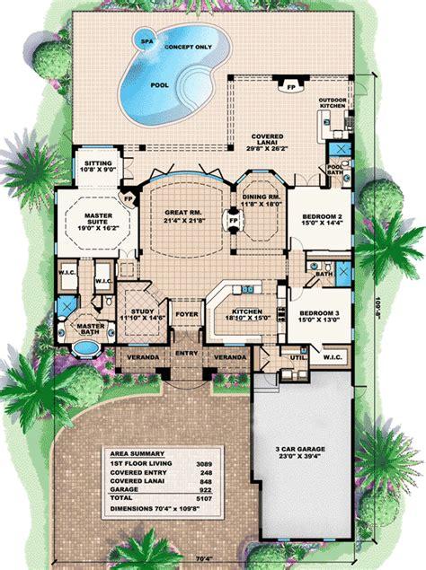 true great room house plan st floor master suite cad den office