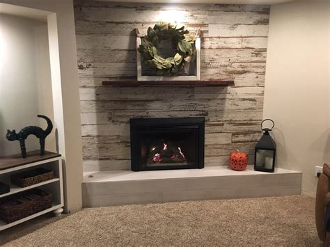 barn wood distressed tile planks for fireplace yelp