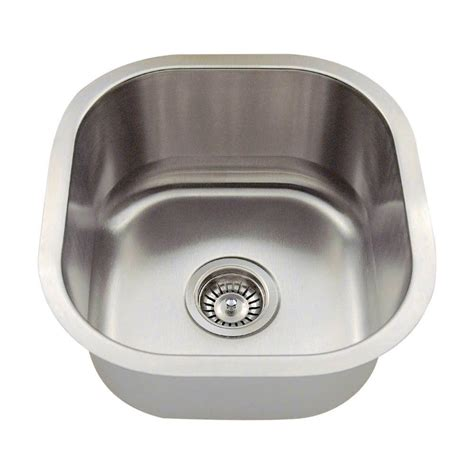 Small Bowl Stainless Steel Sinks by Polaris Sinks Undermount Stainless Steel 16 In Single
