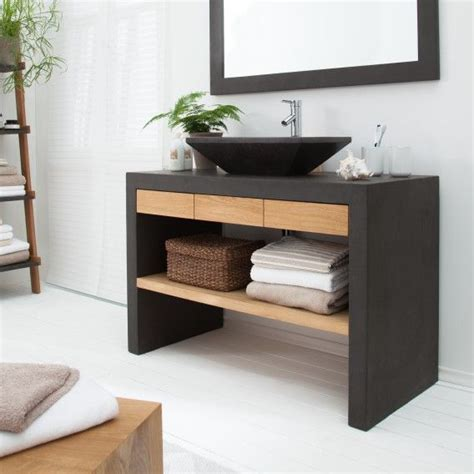 Badezimmer Unterschrank Home24 by Waschtisch Akoda Eiche Massiv Beton Home24