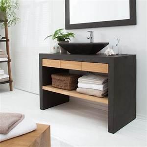Waschtisch Holz Massiv : waschtisch akoda eiche massiv beton home24 pinteres ~ Lizthompson.info Haus und Dekorationen