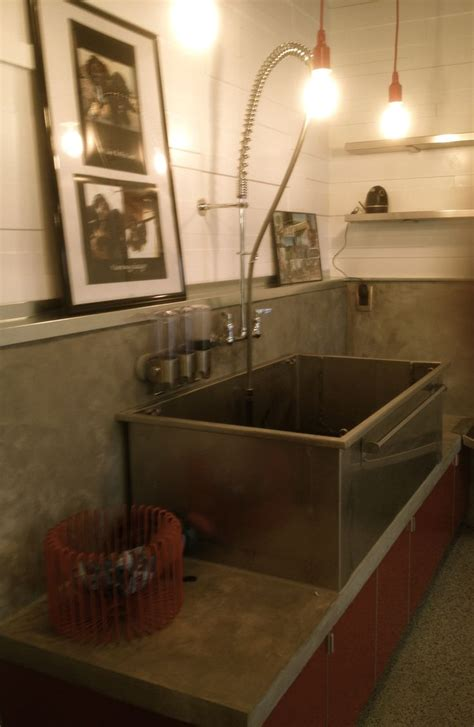dog washing sink stainless dog wash with pre rinse faucet laundry room pinterest