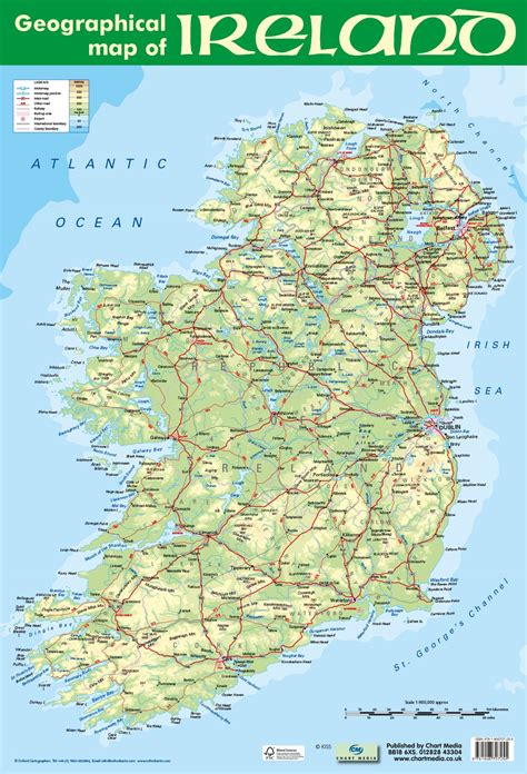 geographical ireland poster  chart media chart media