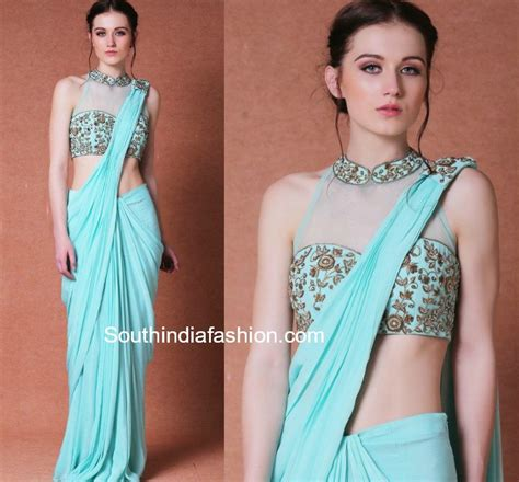 plain saree with designer blouse simple sarees with designer blouses south india fashion