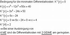 Grenzkosten Berechnen : l sungen differenzialrechnung vbka iv ~ Themetempest.com Abrechnung
