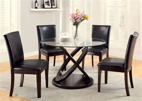 atwood  glass dining table  chairs