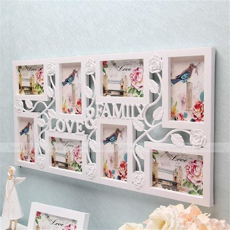 yazi family love large multi  picture wall hanging collage photo frame wall decor wedding