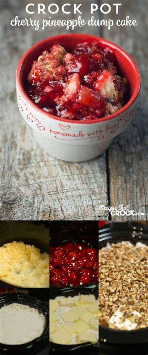 crock pot cherry pineapple dump cake recipes  crock