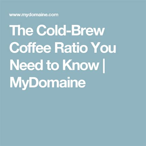 For cold brew made by immersion, the coffee sits directly in the water source for a few getting the right coffee to water ratio is key to making sure the extraction process pulls out the flavors you want from the beans you have selected. Psst… We've Figured Out the Perfect Cold Brew Coffee Ratio   Cleaning hacks, Bathroom cleaning ...