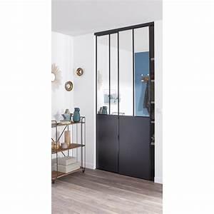 Porte Coulissante Placard Miroir : lot de 2 portes de placard coulissante miroir noir ~ Melissatoandfro.com Idées de Décoration