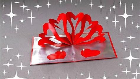 diy hearts pop  card tutorial diy cards youtube