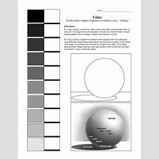 Value Scale And Sphere Worksheet; 7th Grade Art #blending #value #shading  Middle School Art