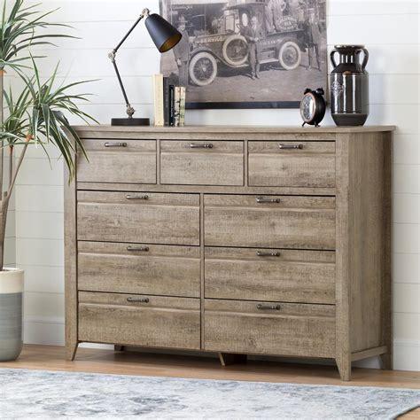 weathered oak dresser south shore lionel 9 drawer weathered oak dresser 10252