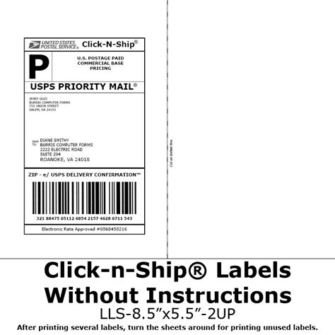 blank labels  click  ship   taping  postage