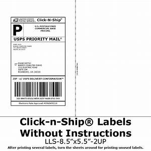 blank labels for click n shipr no more taping on postage With how to print out a shipping label