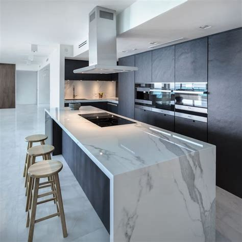 kitchen island tops 32 trendy and chic waterfall countertop ideas digsdigs