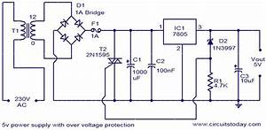5v Power Supply With Overvoltage Protection