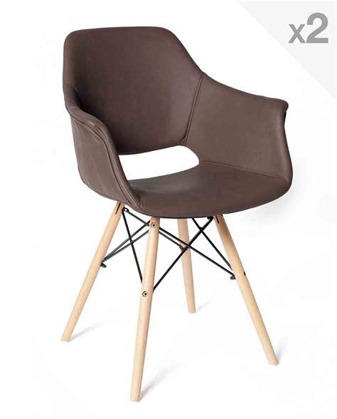 lot chaise lot de 2 chaises scandinave avec accoudoirs soho