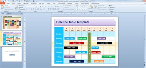 time schedule template powerpoint free editable schedule template for powerpoint