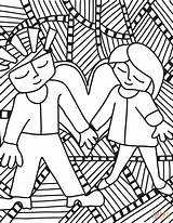 Pop Coloring Pages Couple Anime Drawing Printable Saluki Culture Adults Supercoloring Categories sketch template