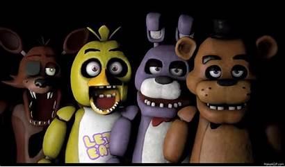 Freddy Fnaf Animatronics Five Fnaf1 Versions Foxy