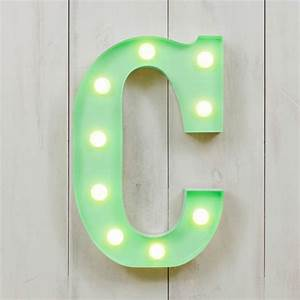 c vegas metal 11quot mini led letter lights alphabet lights With letter c light
