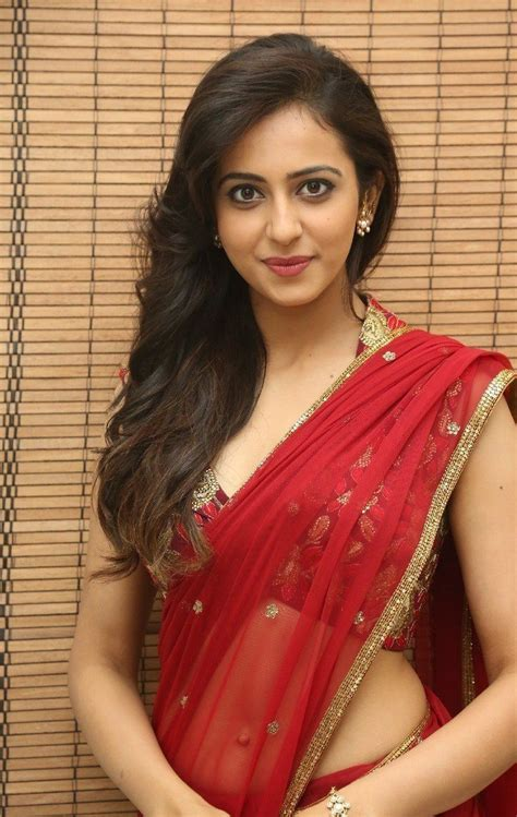 Rakul Preet Singh Hot In Red Saree Latest Photos Hd Stills Cineframes