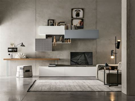Sectional storage wall with secretary desk UNIT A054 By