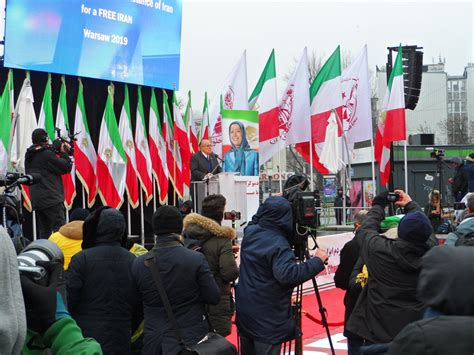 iranians express support for the resistance and regime change in warsaw major rally