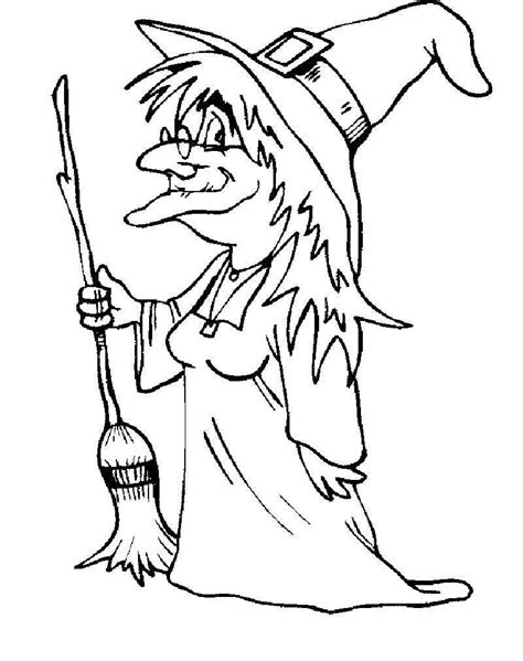 witch coloring page pictures    images witch