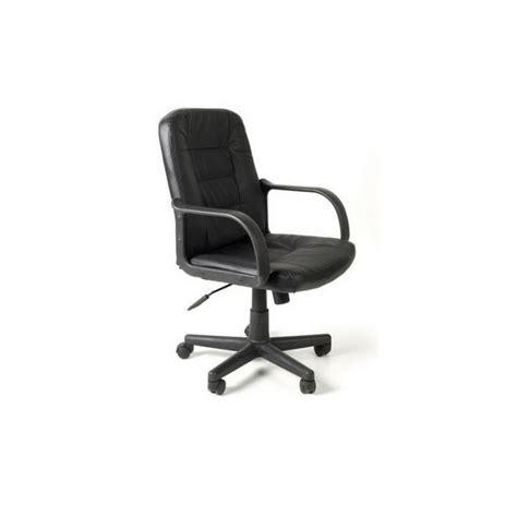 fauteuils de bureau en cuir fauteuil de bureau assise en croute cuir noir