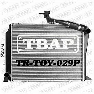 36mm Core Hduty Radiator For Toyota Hiace Rzh  Lh 2 4ltr