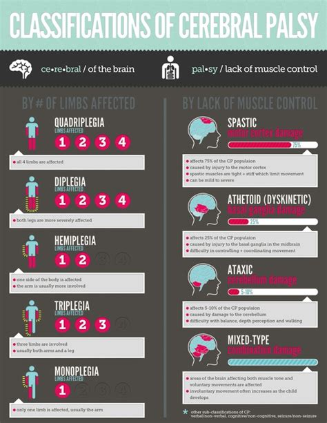 top  cerebral palsy infographics