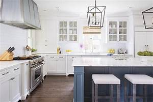 van deusen blue kitchen island design ideas With kitchen colors with white cabinets with large metal flip flop wall art