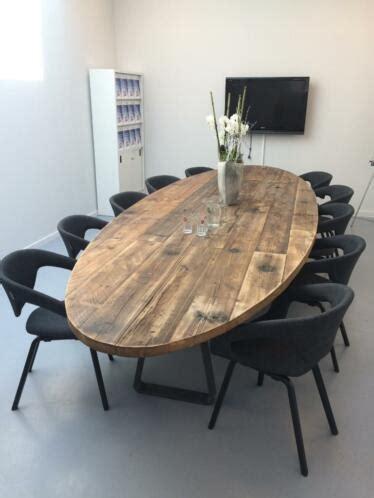 ovale tafel robuuste tafels stoere unieke ovaal eettafel