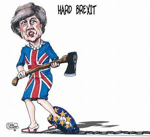 Cartoon Movement Hard Brexit