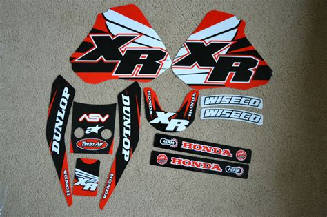 team honda graphics xr250 xr400 96 97 98 99 2000 2001 2002 03 04 xr400r xr250r ebay