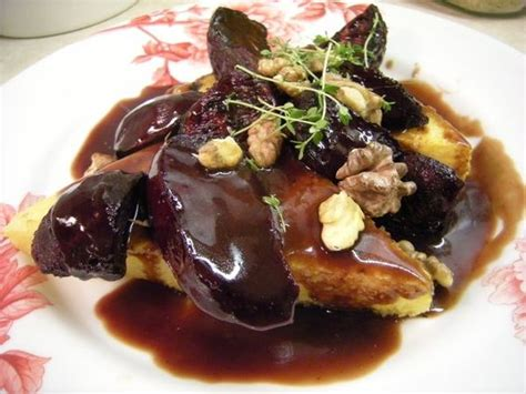 bordeaux cuisine polenta with roasted beets and bordeaux reduction