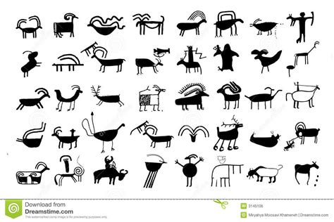 native american animal symbol ancient animal drawings