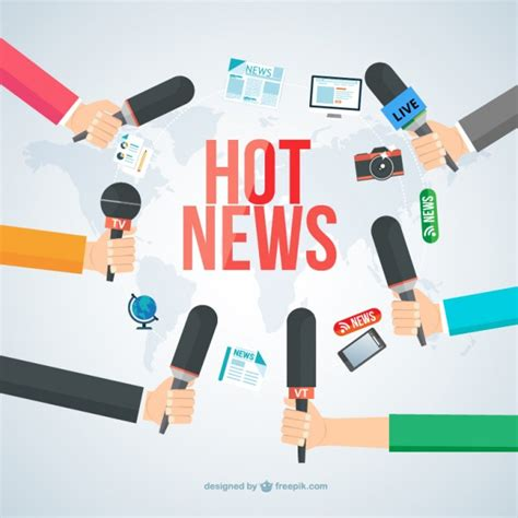 Hot News Vector  Free Download