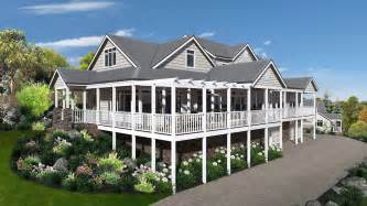 front to back split level house plans storybook htons style design