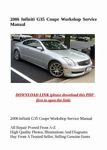 2006 Infiniti G35 Coupe Workshop Service Manual By Dniel