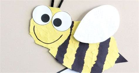 bee craft template insect crafts bee crafts  writing