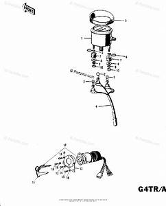 Kawasaki Motorcycle 1971 Oem Parts Diagram For Meter